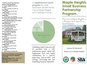 Icon of Small Business Partnership Program Brochure