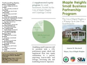 Icon of Small Business Partnership Program Brochure