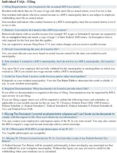 Icon of RITA FAQs
