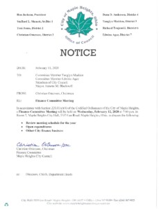 Icon of February 11, 2020 Meeting Notice