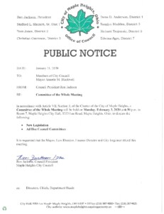 Icon of February 3, 2020 Meeting Notice
