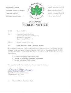 Icon of March 11, 2020 Meeting Notice