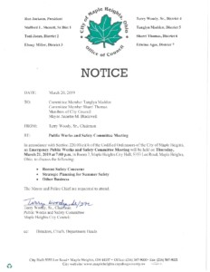 Icon of March 21, 2019 Meeting Notice