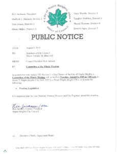 Icon of August 6, 2019 Meeting Notice