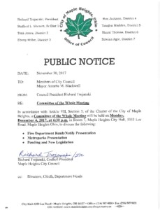 Icon of December 4, 2017 Meeting Notice
