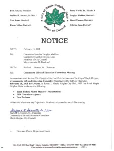 Icon of February 15, 2018 Meeting Notice