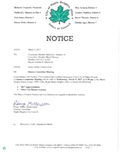 Icon of March 8, 2017 Meeting Notice