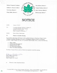 Icon of January 25, 2017 Meeting Notice