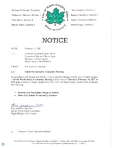 Icon of February 16, 2017 Meeting Notice