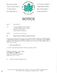 Icon of May 24, 2018 Meeting Notice