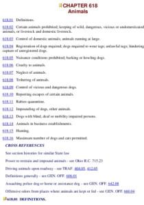 Icon of Animal Ordinances