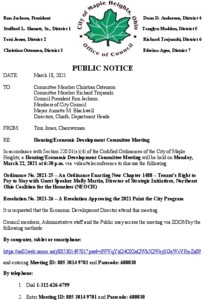 Icon of March 22, 2021 HEDC Meeting Notice