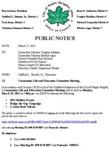 Icon of March 29, 2021 CLEC Meeting Notice