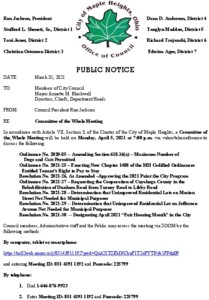 Icon of April 5, 2021 Meeting Notice