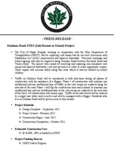 Icon of April 13, 2021 - Press Release Dunham Road SRTS