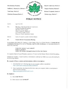 Icon of April 22, 2021 CRC Meeting Notice