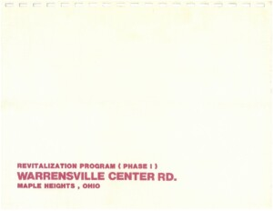 Icon of 1985 Revitalization Program (Phase I) Warrensville Center Road Plan