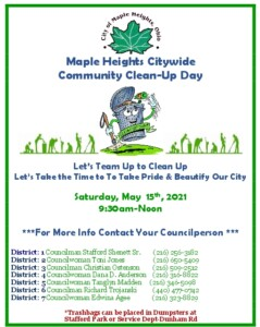 Icon of Community Cleanup Day May 15, 2021