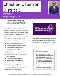Icon of June 2021 District 3 Newsletter