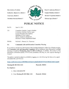 Icon of June 23, 2021 CLEC Meeting Notice