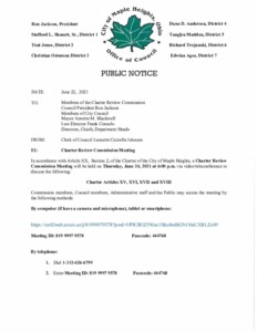 Icon of June 24, 2021 CRC Meeting Notice