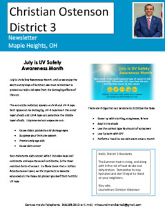 Icon of July 2021 District 3 Newsletter
