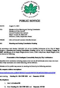 Icon of August 16, 2021 PZC Meeting Notice