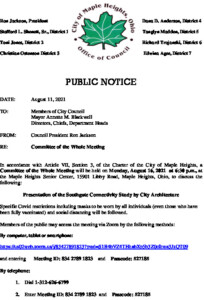 Icon of August 16, 2021 Meeting Notice