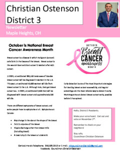 Icon of October 2021 District 3 Newsletter