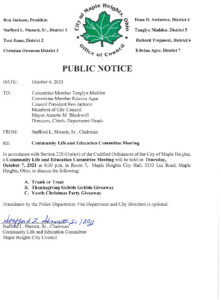 Icon of October 7, 2021 CLEC Meeting Notice
