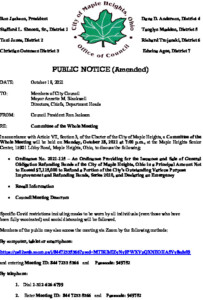 Icon of October 18, 2021 Amended Meeting Notice