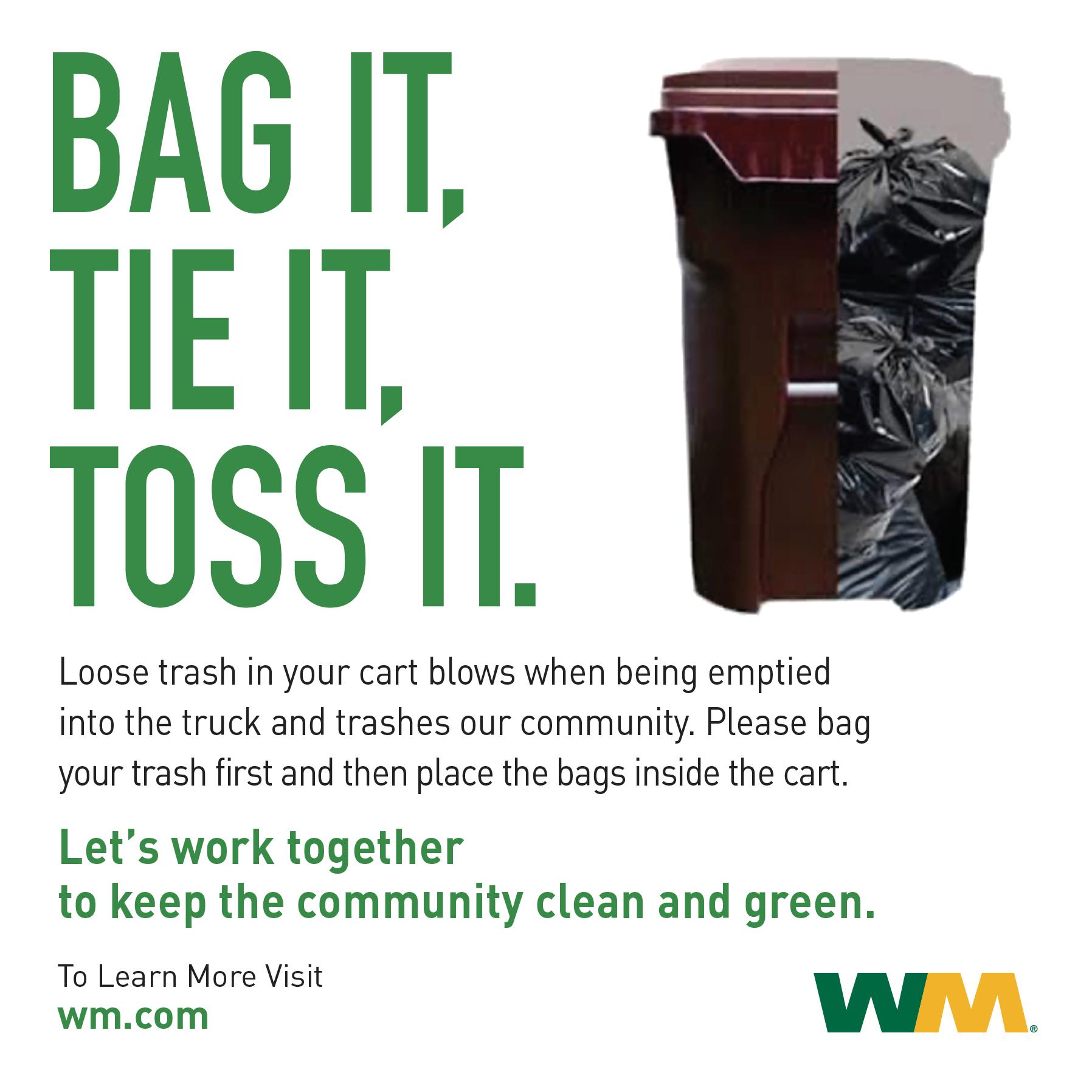 Bag your trash flyer
